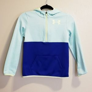 Under Armour Storm kids Blue green hoodie Jacket